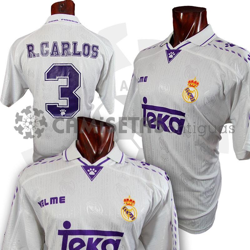 quality design c46e3 770cb 1995-96-3-roberto-carlos-real-madrid-shirt-kelme-home-lxl ...